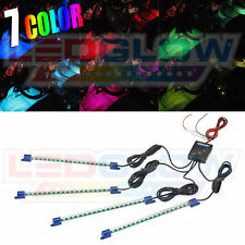 NEW! LEDGLOW 4pc 7 COLOR LED INTERIOR LIGHT KIT for ALL CARS w ACCENT NEON GLOW