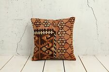 """16"""" x 16"""" Pillow Cover Kilim Pillow Cover VINTAGE FREE Shipment With UPS 02914"""