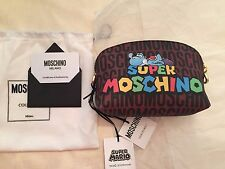 SS16 Moschino Couture X Jeremy Scott Super Mario Yoshi Dino CLUTCH MAKE UP BAG