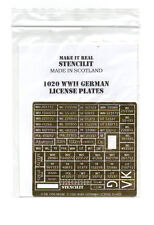 STENCILIT S 1020 - PHOTO-ETCHED WWII GERMAN LICENSE PLATES 1/35 - NUOVO