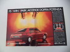 advertising Pubblicità 1987 ALFA ROMEO 75 TWIN SPARK