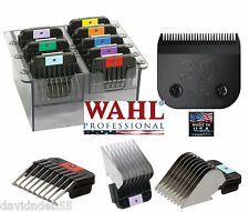 Wahl 30 BLADE&8 STAINLESS STEEL ATTACHMENT COMB SET*Fit Most OSTER,ANDIS CLIPPER