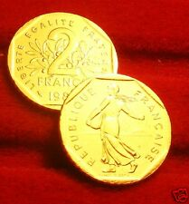 OR/GOLD  PL  24 K     2    FRANCS    SEMEUSE    1982   RARE  EDITION  LIMITEE