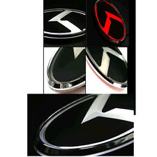 Trunk K Logo White & RED 2Way LED Emblem C-type For 12-14 Kia Rio All New Pride