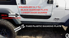 JEEP WRANGLER YJ or TJ black DIAMOND PLATE LOWER DOOR GUARDS