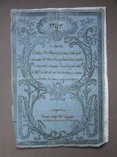 Manoscritto Rogito Mirandola 1797 Compravendita Rovereto Pianta Notarile