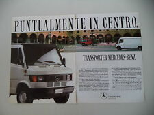 advertising Pubblicità 1989 MERCEDES BENZ TRANSPORTER 308 D