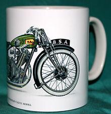 VINTAGE MOTORBIKE.BSA OVERHEAD VALVE MOTORBIKE 4.93 HP.VINTAGE DESIGN MUG.NEW