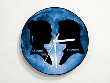 I Love You, I Know - Star Wars - Blue Moon - Wall Clock
