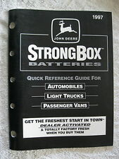 1997 JOHN DEERE STRONGBOX BATTERIES QUICK REFERENCE GUIDE CATALOG MANUAL