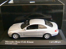 MERCEDES CLK CLASS 2001 C209 BRILLIANT SILVER METAL MINICHAMPS 400031424 1/43