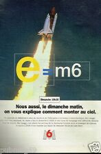 Publicité advertising 1995 M6 Mac Lesggy emission e=m6
