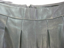 Size 10 ARTHUR GALAN black grey designer leather skirt