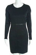 Max Mara Black Long Sleeve Knee Length Pencil Dress Size Medium