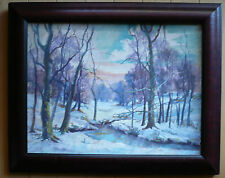 LISTED Indiana IN artist, Mae Lowes, fine impressionist landcape Brown County
