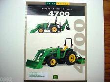 John Deere 4700 Tractors 1999 2 Page Brochure                     #
