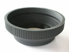 SCREW ON 55MM PROFESSIONAL RUBBER COLLAPSIBLE LENS HOOD FOR SLR LENSES QUALITY