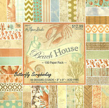 Travel Beach House 8x8 Inch Scrapbooking Paper Pad Paper Studio 150 Sheets New