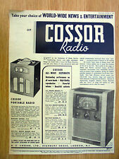 genuine 1939 advert for cossor radios,12.5x9.5 inches