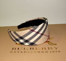 NWOT~BURBERRY Nova Check Plaid Hair Band Headband Hair Accessories