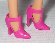 SHOES ~ MATTEL BARBIE DOLL PINK T-STRAP POINT TOE ACCESSORY HIGH HEEL SHOES