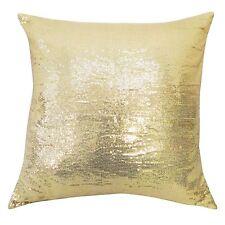 Sparkle Golden Sequin Pillow Cover Throw Metallic Decorative Cushion Case 16