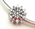 925 Sterling Silver Ice Crystal Clear CZ Bead Fit European Charm Bracelet