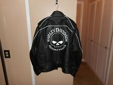 Men's Harley-Davidson Willie G. Skull Black Leather Reflective Jacket XXXL