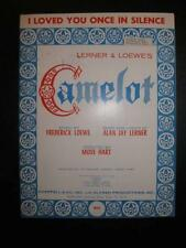 I Loved You Once In Silence Sheet Music Vintage 1960 Camelot Frederick Loewe (O)