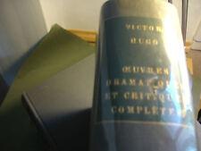 oeuvres Dramatiques, Victor Hugo Présentées par Jacques Pauvert