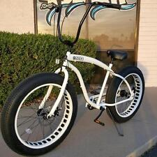 NEW Sikk 3 SPEED�� Fat Tire Beach Cruiser Bike �� ALL WHITE