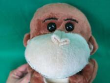 RINCO BROWN TANNED SMILING MONKEY HOLDING A BANANA PLUSH STUFFED ANIMAL 9""