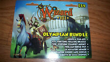 Wizard 101 OLYMPIAN BUNDLE Prepaid Game Card Gladiator Fortune Telling Oracle +
