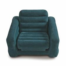 Pull Out Chair & Twin Air Mattress Sofa Inflatable Bed Blow Up Dorm Camping