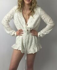 "***CHIC THE JETSET DIARIES ""TUSCANI"" ROMPER IN WHITE SIZE SMALL S***"