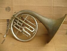 Vintage Silver over brass Indiana French Horn Certified! w. case