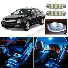 8X Ice Blue LED Lights Interior License Package Kit For 2006-2012 Ford Fusion