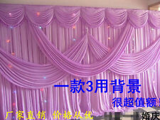 Wedding event stage decorations backdrop party drapes with swag silk fabric
