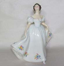 Vtg Royal Doulton KATE Lady in White Dress w Flowers Bone China Figurine HN2789