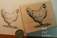 P58 Hen, chicken rubber stamp