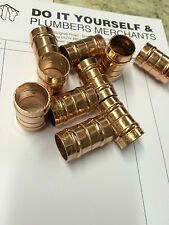 10 x 15mm COPPER STRAIGHT COUPLING FITTING SOLDER RING