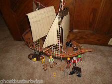 VINTAGE 3050 PLAYMOBIL DOLLHOUSE VICKING PIRATE VILLAIN SHIP BOAT VESSEL SET LOT