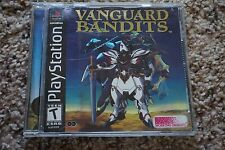 Vanguard Bandits Sony PlayStation 1, PS1 Missing the Manual