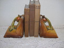 Roseville Brown Pinecone Book ends ~ Great Shape ~ No Chips,Cracks or Crazing