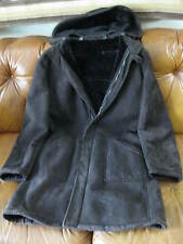 Bruno Magli dark brn Shearling Coat M 38, excellent shape, with detachable hood