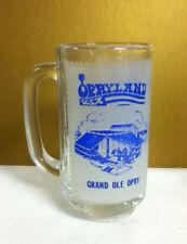 Opryland USA Grand Ole Opry cocktail drink beer glass mug mugs glassware RE5