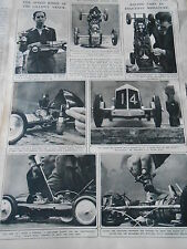 The Speed Kings Of The Lilliput Track Racing Cars 1946 Print Article