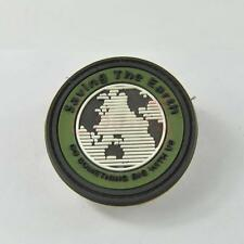 Saving The Earth 3D PVC Rubber Tactical Military Morale Velcro Patch Army Green