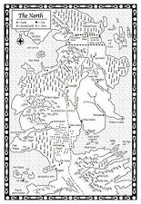 Framed Print – Game of Thrones Map of the North (Picture TV Program Poster Art)