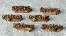 FENCES with Desert Shrubs - 6 pieces - wargaming scenery - 15mm painted
